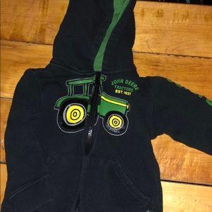 John Deere zip up sweatshirt
